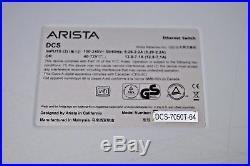 Arista DCS-7050T-64-DC-F 48x RJ45 1/10GBASE-T 4x QSFP+ Switch F-R 2x DC PSU HSS