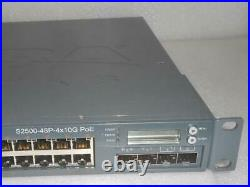 Aruba Networks S2500-48P-4x10G PoE 48-Ports Mobility Access Switch S2500-48P-US