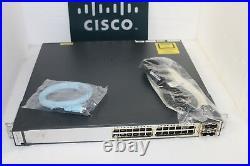 CISCO WS-C3750E-24TD-S 24-Port Gigabit Layer 3 Switch TenGig WS-C3750E-24TD-S