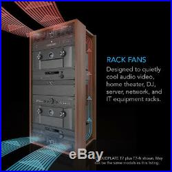 CLOUDPLATE T1, Rack Mount Cooling Fan Panel 1U Exhaust, AV Equipment 19 Rack