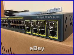 Cisco 2960G WS-C2960G-48TC-L 48-Port Gigabit Switch 15.0 SAME DAY SHIP GLC-SX-MM