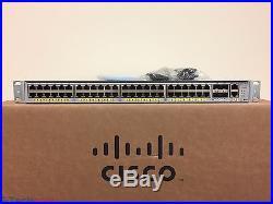 Cisco 4948 WS-C4948E-F 48 Port Layer 3 Gigabit Switch Dual Power (SAME DAY SHIP)