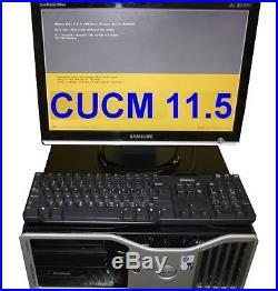 Cisco CUCM 11 5 VMware ESXi Server Dell T5400 32GB CCNA CCNP Voice