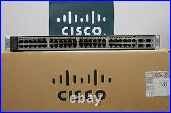 Cisco Catalyst WS-C3750V2-48PS-S 48-Port PoE Switch WS-C3750-48PS-S LATEST VER