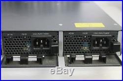 Cisco Catalyst WS-C3750X-48P-S with C3KX-NM-1G Poe Gigabit Switch DUAL POWER