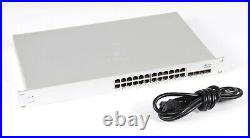 Cisco Meraki MS220-24P-HW 24 Port PoE Switch Unclaimed-No License 1Year Warranty