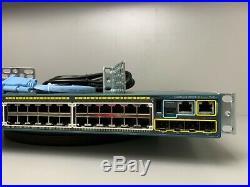 Cisco WS-C2960S-48FPS-L 48 Port PoE+ Gigabit Network Switch SAMEDAYSHIPPING