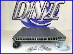 Cisco WS-C2960S-48LPS-L 48 Port PoE Gigabit Ethernet Stackable Switch 4 SFP KCK