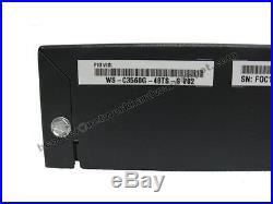 Cisco WS-C3560G-48TS-S 48-Port 10/100/1000 Gigabit Switch 1 Year Warranty