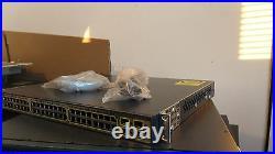Cisco WS-C3750-48PS-S 48 Ports Lyr 3 Switch latest ios 1 year Wrnty&4x SFP 3750