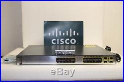 Cisco WS-C3750G-24PS-S 24 Port PoE 10/100/1000 Gigabit Switch Same Day Shipping