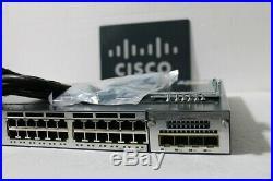 Cisco WS-C3750X-24P-S 24-Port PoE Gigabit 3750X Switch with AC-1 Year Warranty