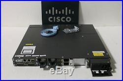 Cisco WS-C3750X-48P-L 48-Port PoE+ Gigabit Switch1 YEA 1x C3KX-PWR-1100WAC