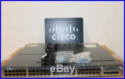 Cisco WS-C3750X-48PF-S 48-Port Gigabit IP Base Switch with2x C3KX-PWR-1100WAC DUAL