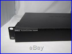 DELL PowerConnect 5524P POE 24 port Gigabit Managed Layer 3 Switch 2 SFP+ ports