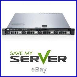 Dell PowerEdge R420 Server 2x E5-2430Lv2 2.4GHz = 12 Cores 128GB RAM 4x Trays