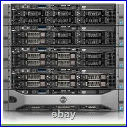 Dell PowerEdge R710 3.5 Virtualization Server 2x X5650 128GB RAM 6x Trays