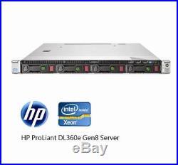 HP Proliant DL360e G8 I 24GB DDR3 I 2 x Intel Xeon E5-2430 6 Core I 1U Server