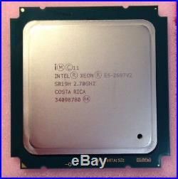 Intel Xeon E5-2697v2 12-Core 2.70GHz SR19H 30MB Cache LGA2011 CPU Processor