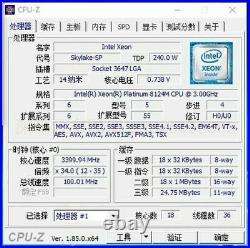 Intel Xeon Platinum 8124M SRD1Y 18Core 3GHz LGA3647 240W Official OEM NOT QS/ES