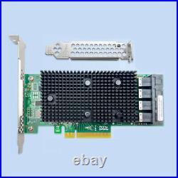 LSI 9400-16i SATA/SAS HBA Controller RAID 12 Gbps PCIe 16 Port Support NVME HDD