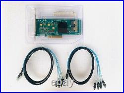 LSI SATA SAS 9211-8i IT Mode 8 Port 6Gb/s + 2SFF-8087 SATA Cable
