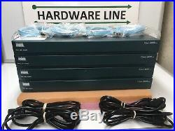 Lot 4x Cisco 2651XM with 2x Fast-Ethernet + 128MB/48MB for CCNA CCNP CCIE Lab B