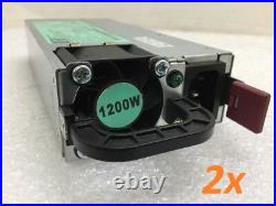 Lot of 2 HP 1200W Power Supply Server 490594-001 438203-001 HSTNS-PL11