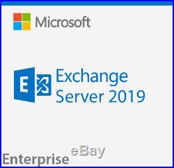 Microsoft Exchange Server 2019 Enterprise Retail Sealed with 50-CAL