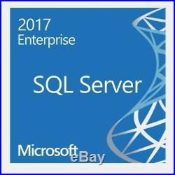 Microsoft SQL Server 2017 Enterprise with 16 Core License COA & Media GENUINE
