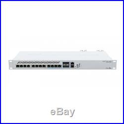MikroTik CRS312-4C+8XG-RM Cloud Smart Switch, 8 regular 10G RJ45 Ethernet ports