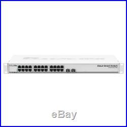 Mikrotik CSS326-24G-2S+RM Cloud Smart Switch, 24xGbit LAN, 2xSFP+, Rackmount