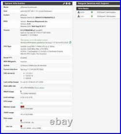 Mini Intel Core i7-7500U 4GB DDR4 RAM 60GB SSD pfSense Gigabit Firewall AES-NI