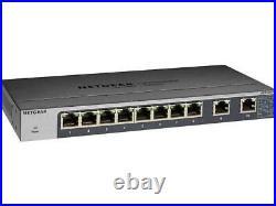 NETGEAR 10-Port Gigabit/10G Ethernet Unmanaged Switch (GS110MX) with 2 x 10G/M