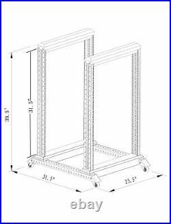 NEW 15U 4 Post Open Frame Racks 19'' Server/Audio Steel Rack 24'' Deep