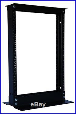New 15U 2 Post Open Frame Data Network Relay Servers Rack 19 Aluminum