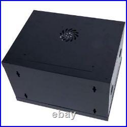 New 6U Wall Mount Network Server Data Cabinet Enclosure Rack Glass Door Lock Fan