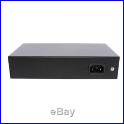 PoE Network Switch 10/100m Power Injector 8 Port + 2 Port Power Over Ethernet