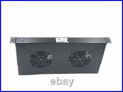 Raising Electronic RACK MOUNT 2-FAN COOLING 1 UNIT 2 Fan For IT Server Cabinet