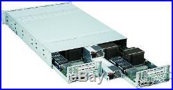 SUPERMICRO 2U FAT TWIN 6026TT-HDTRF 2 NODE 4x Xeon E5620 16Gb RAIL 2x1400Watt PS