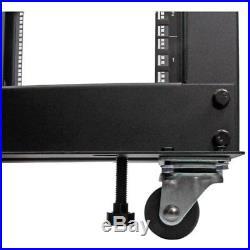 StarTech 25U Adjustable Depth Open Frame 4 Post Server Rack with Casters