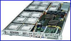 Supermicro 1U 12 Bay LFF X9DRFF-7TG+ Xeon E5-2620 V2 12 core 2.1Ghz 128GB Rail