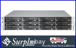 Supermicro 2U 12 Bay LFF Server X9DRi-F 2x Xeon E5-2650 16 Core 32GB HW RAID 2PS