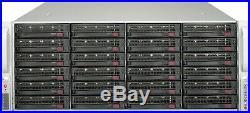 Supermicro 4U 24 bay Raid Storage Server Xeon 12 Core 2.1ghz 16GB 24x Trays RAIL