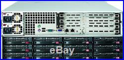 Supermicro 4U Freenas ZFS Unraid Server AMD 8 Cores 2.6ghz 16GB 36 Tray RAIL KIT