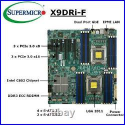 Supermicro X9DRi-F Intel C602 LGA 2011 DDR3 ECC Dual Port GbE IPMI Motherboard
