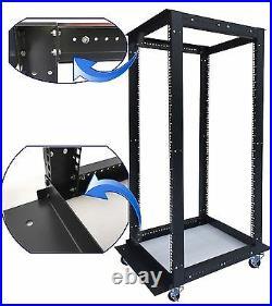 Sysracks 32U 4 Post Open Frame 19 Network Server Rack Adjustable Depth 24-36