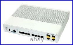 USED Cisco WS-C2960CG-8TC-L Switch 8 Port 10/100/1000Base-T 2x SFP