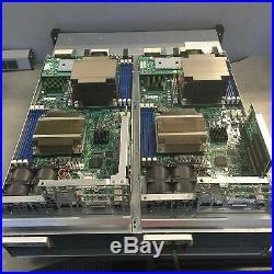 USED SuperStorage 2027B 2U 2 Node 24 2.5 Drive Bay SSG-2027-BDE2R24L Supermicro