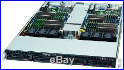 UXS Server 1U Supermicro 2 node 4 bay 4x Xeon X5675 6 core 3.0Ghz 64GB 2x 500GB